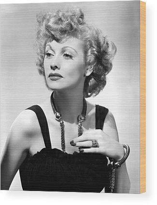 Lucille Ball Wood Prints