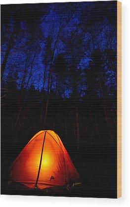 Campsite Wood Prints
