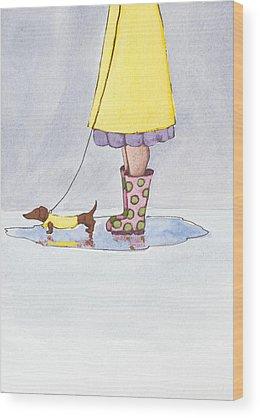 Raincoat Wood Prints