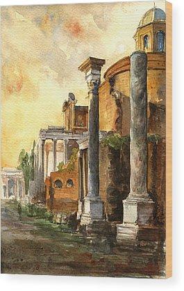 Roman Wood Prints