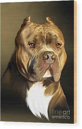 Pitbull Wood Prints