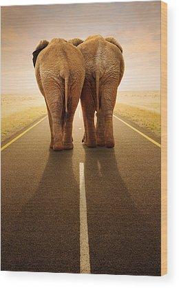Road Wood Prints