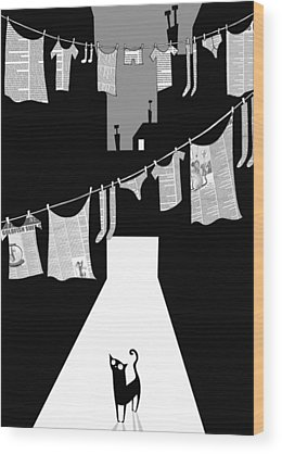 Laundry Wood Prints