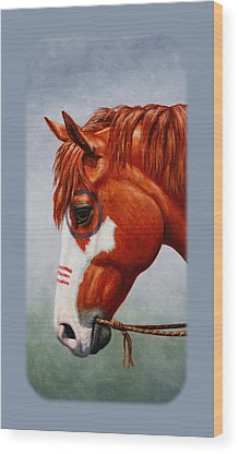 Chestnut Paint Horse Wood Prints
