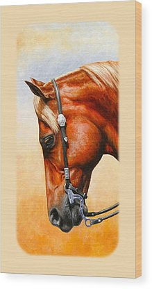 Western Pleasure Horse Wood Prints