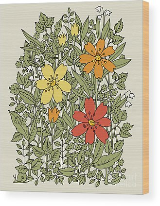 Herbal Wood Prints