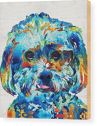 Puppies Wood Prints
