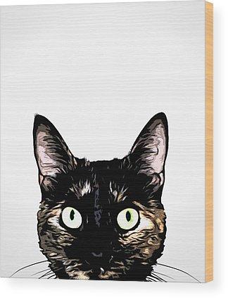 Kitty Cat Wood Prints