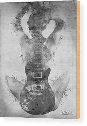 Musician Rock And Roll Wood Prints