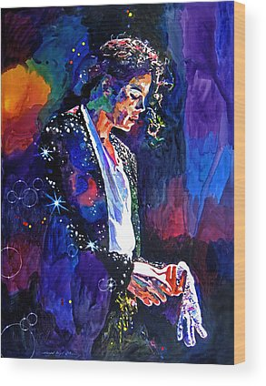 Music King Of Pop Wood Prints