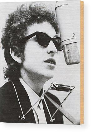 Music Rock Bob Dylan Wood Prints