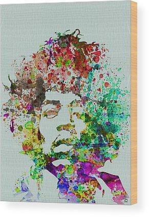 Jimmy Hendrix Wood Prints
