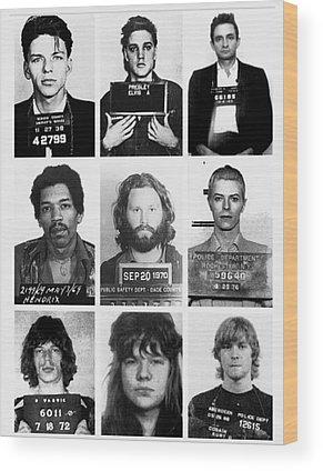 Rock N Roll Music Jimi Hendrix Wood Prints