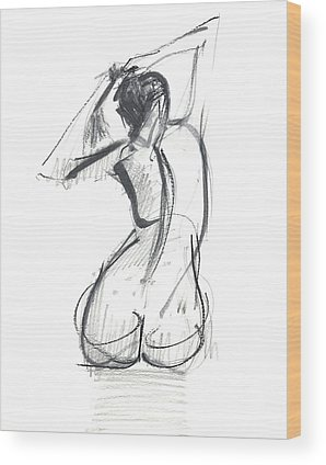 Nude Woman Wood Prints