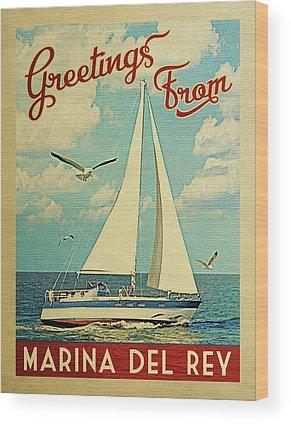Marina Del Rey Wood Prints