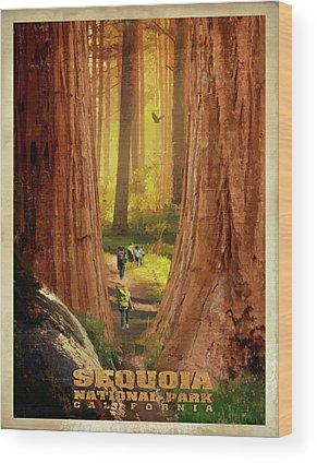 Sequoia National Park Wood Prints