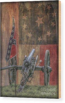 Civil War Reenactment Wood Prints