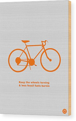 Bicyclist Wood Prints