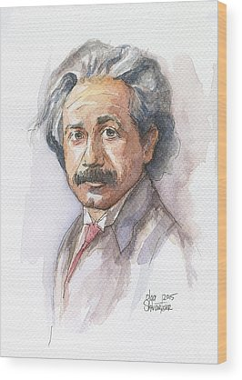 Einstein Wood Prints