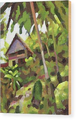 Palapa Wood Prints