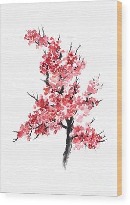 Cherry Blossom Wood Prints