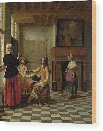 Pieter De Hooch Wood Prints