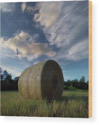 Hay Bale Wood Prints