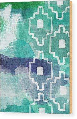 Green Abstract Wood Prints