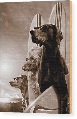 Poodle Wood Prints