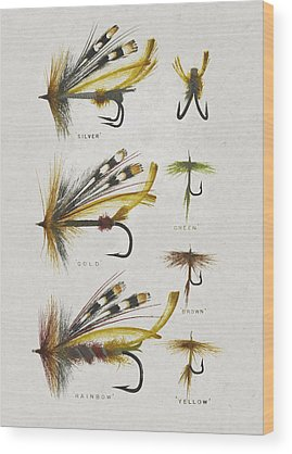 Antique Fishing Lures Wood Prints