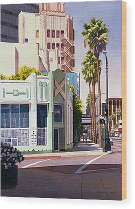 Los Angeles Wood Prints