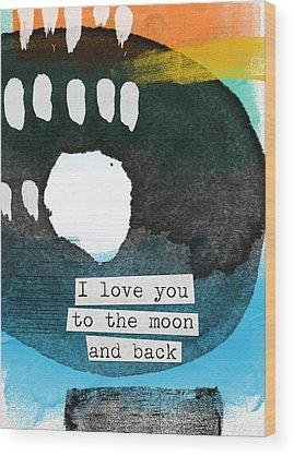 Back To Black Wood Prints