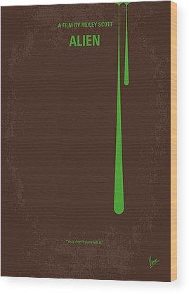 Aliens Wood Prints