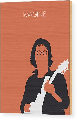 John Lennon Wood Prints
