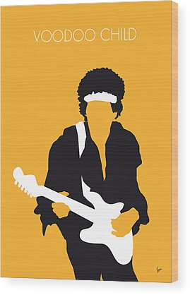 Jimi Hendrix Wood Prints