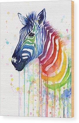 Stripe Wood Prints