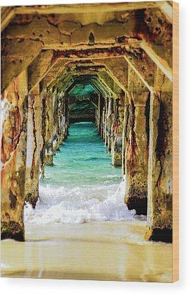 Aqua Wood Prints