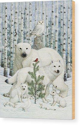 Ermine Wood Prints