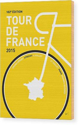 Tour De France Wood Prints