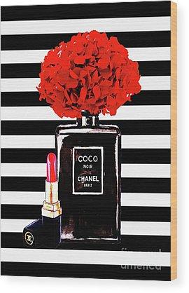 Coco Chanel Wood Prints