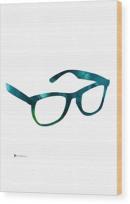 Glasses Wood Prints