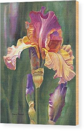 Realistic Flower Wood Prints