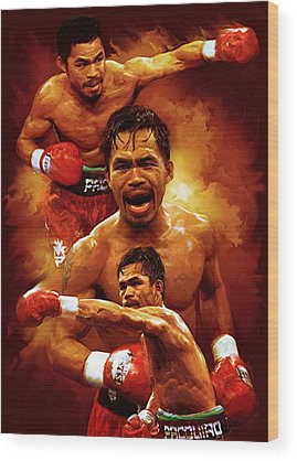 Manny Pacquio Wood Prints