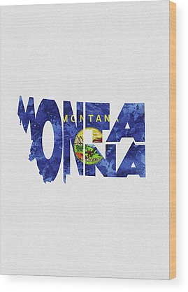 Designs Similar to Montana Typographic Map Flag