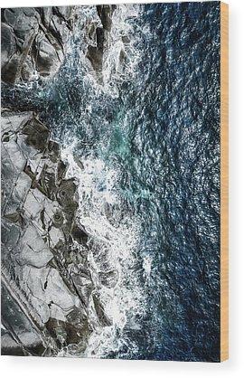 Coastline Wood Prints