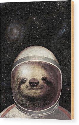 Astronauts Wood Prints