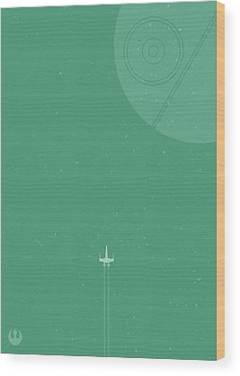 Space Ships Wood Prints