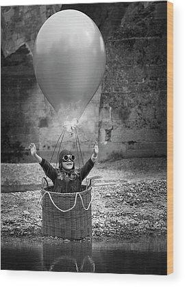 Hot Air Balloon Wood Prints