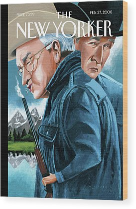 Dick Cheney Wood Prints