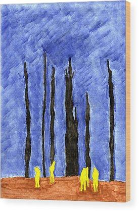 United Airlines Flight 93 Wood Prints